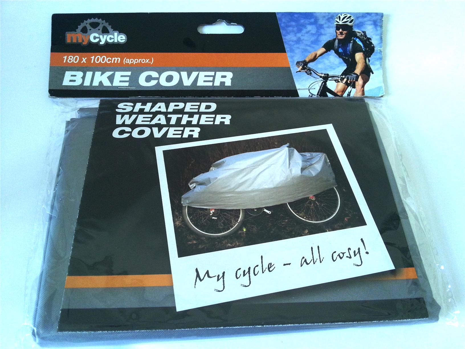 Bike Bicycle cover size 180 cm x 100 cm Grey Colour