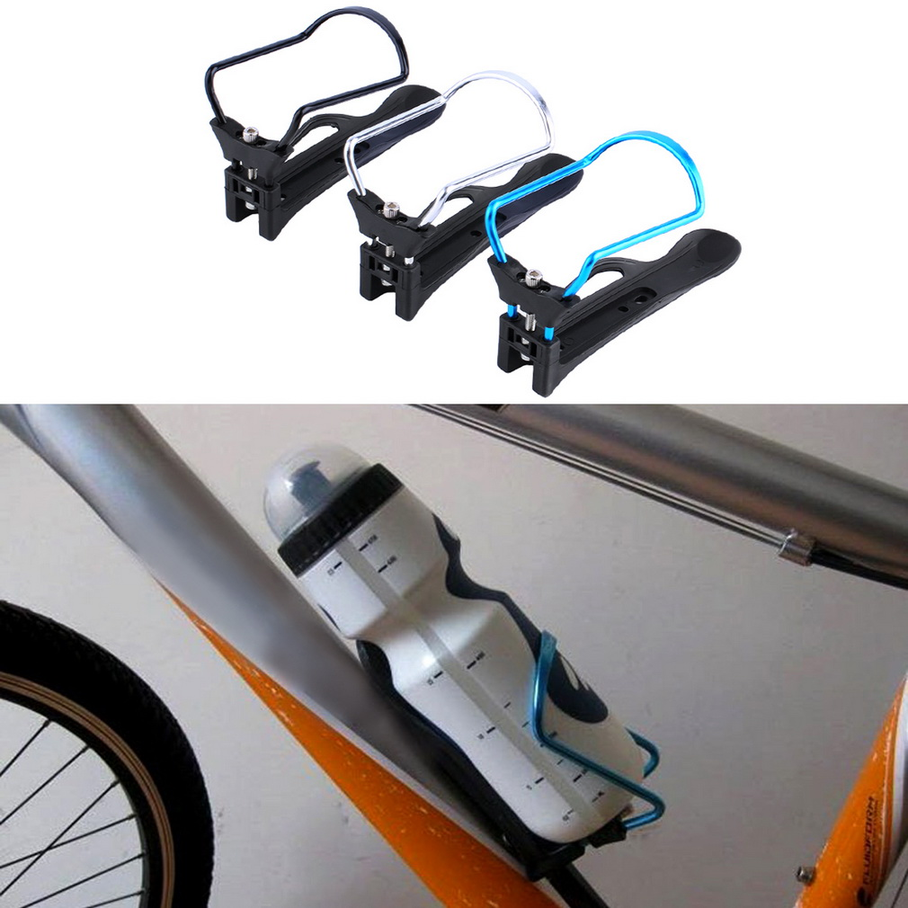 Bike Bicycle Cycling Aluminum Alloy Rack Water Drink Bottle Holder Bra..
