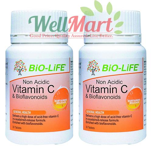 Bio-Life Non Acidic Vitamin C 1000mg Promotional Pack 30's X 2