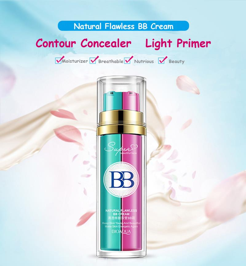 Bioaqua 2in1 Base Makeup BB Cream Flawless Primer Foundation(NATURAL)
