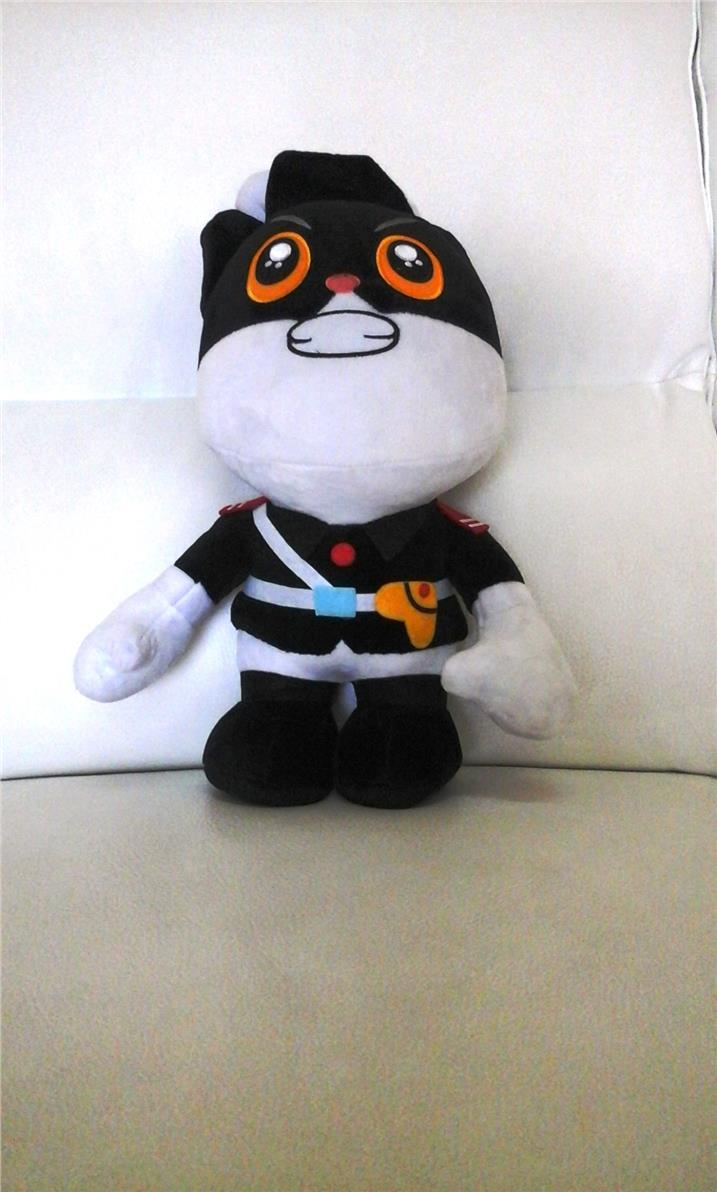"black cat the police soft toy 12"" high"