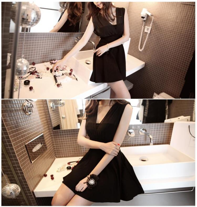 Black Dinner dress (free size) - Limited only 1 pc