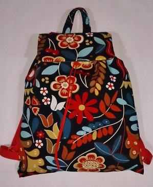 Black Flower Backpack