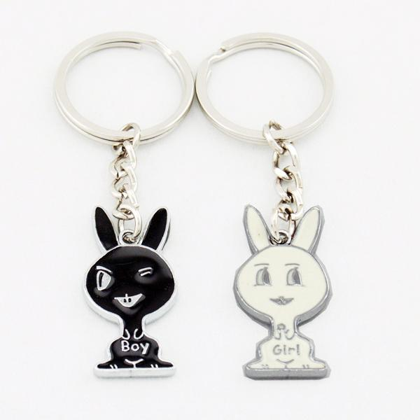 Black & White Cats Lover Couple Key Chain Keychain K45