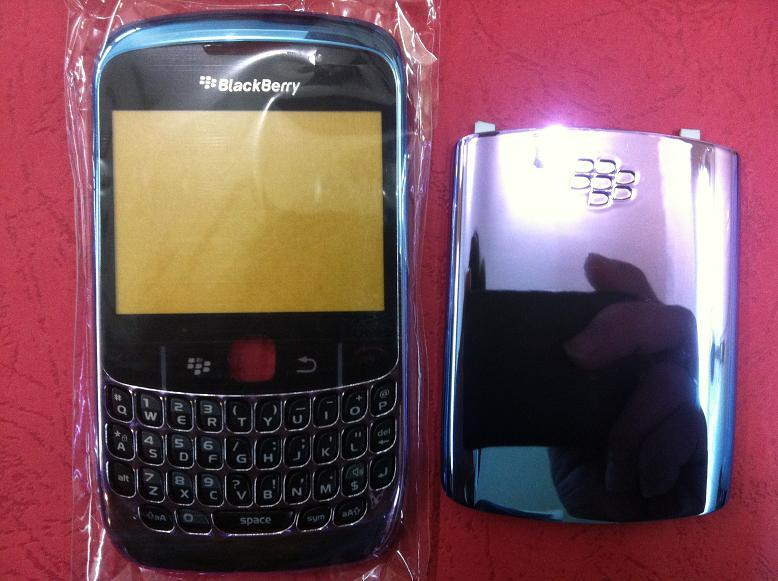 BLACKBERRY CURVE 8520 4 TONES BLUE PURPLE HOUSING