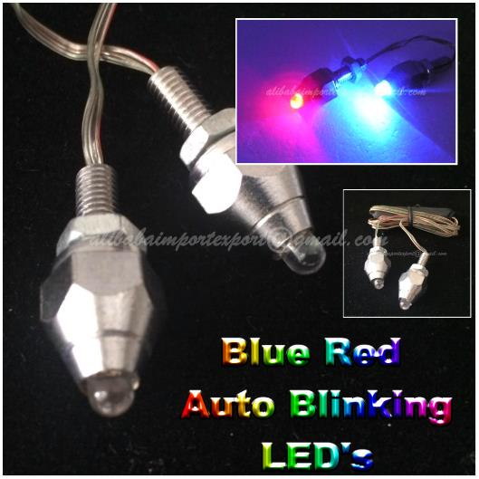Blue Red License Plate LED Screw Light Auto Car Motorcycle Motor Bolt