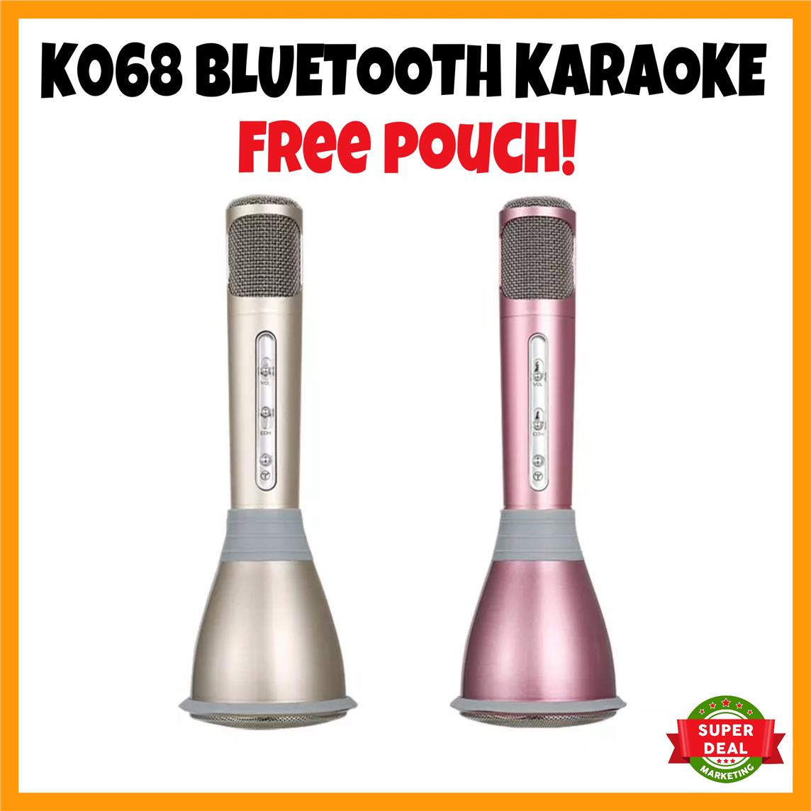 Bluetooth Microphone Bluetooth Karaoke K068 Portable Music Speaker