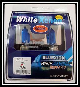 BLUEXION WHITE XENON H11 55w 12v 5000K SUPER WHITE