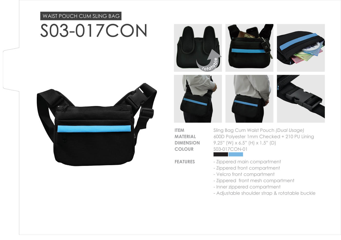 BM Sling Bag cum Waist pouch S03-017 (end 5/16/2015 2:12 PM)