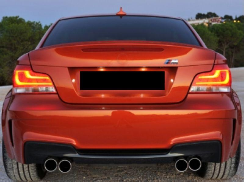 BMW 1 Series E87 '04 E82 1M Rear Bumper PP W/Quad Outlet