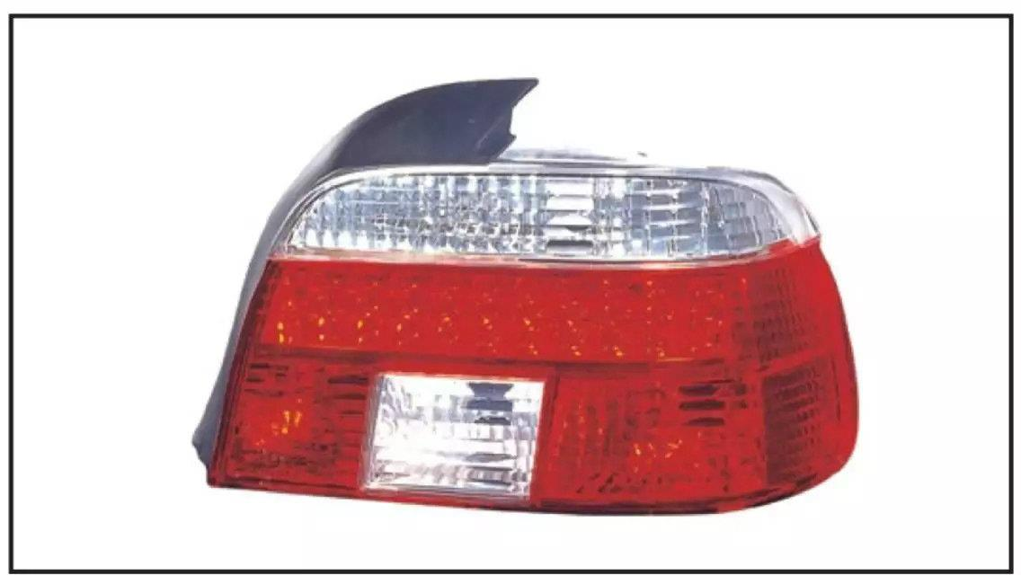 BMW 5 SERIES E39 1995-2002 TAIL LAMP CRYSTAL LED CLEAR / RED