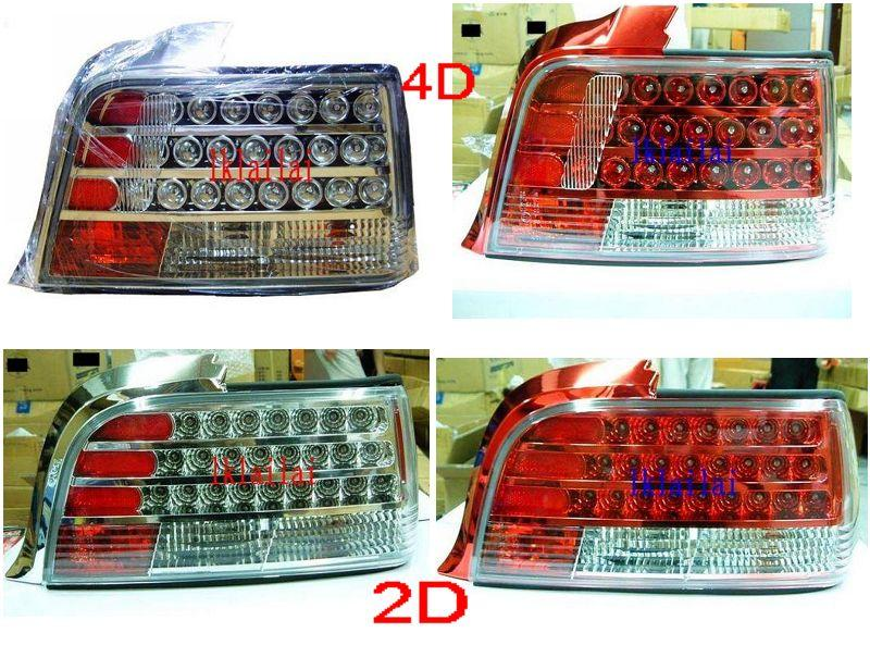 BMW E36 2D / 4D '91-97 LED Tail Lamp [Chrome / Red Housing]