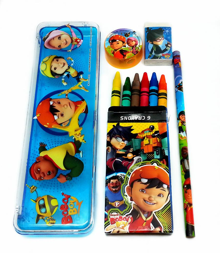 BOBOIBOY OPP STATIONERY WITH CRAYON SET * Genuine licensed
