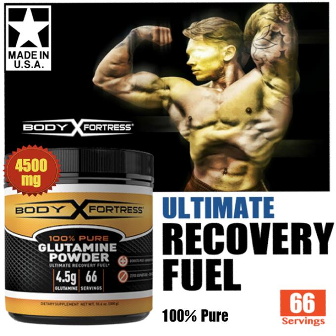 Body Fortress, Glutamine Powder 300g (Energy, BCAA, Creatine, Whey) US