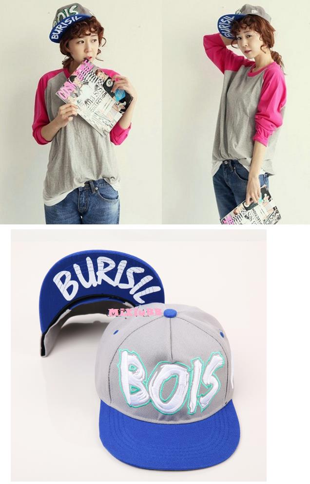 BOIS Hip-Hop Cap - GreyBlue