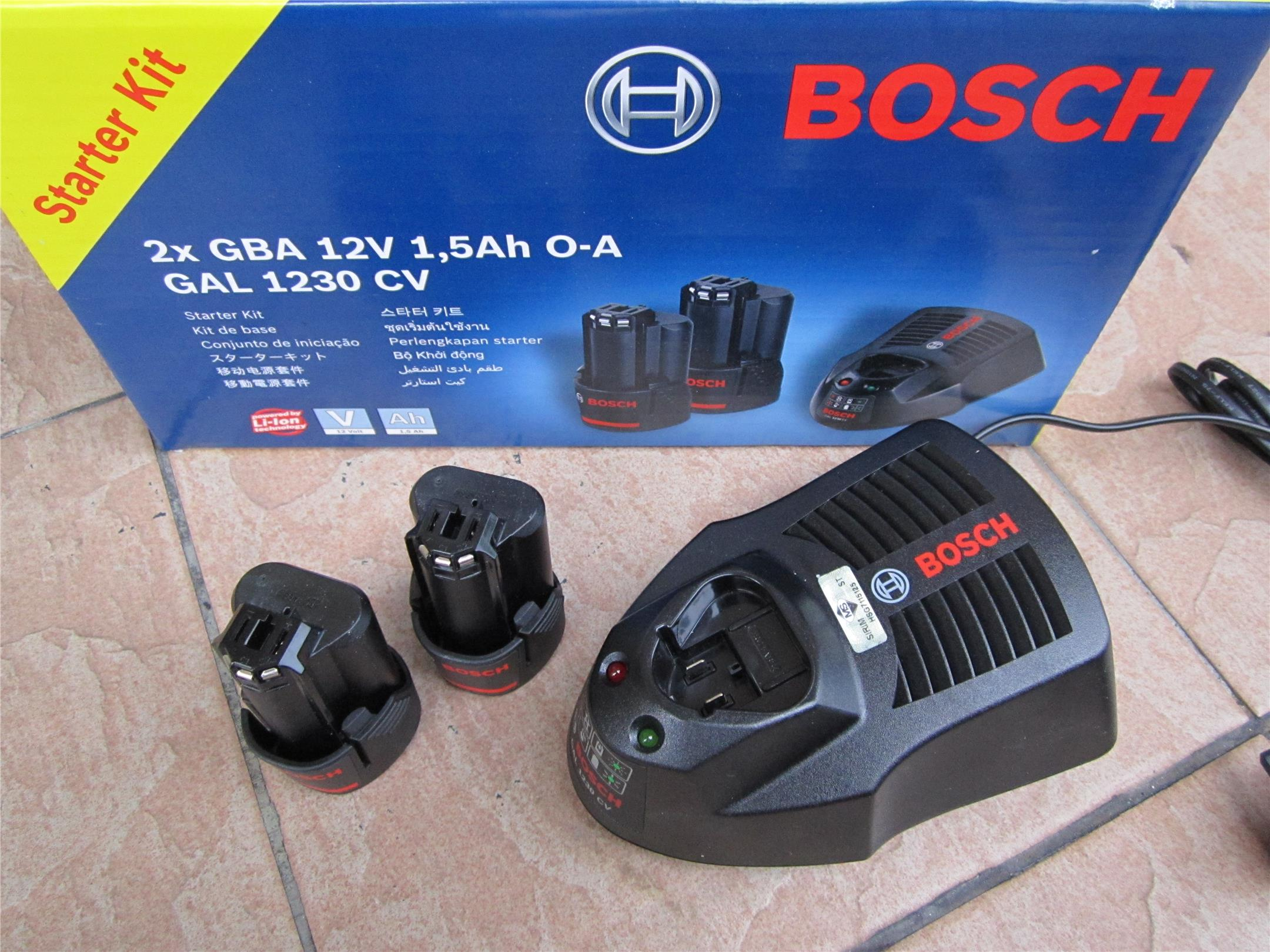 Bosch 12V 1.5Ah Battery Starter Pack Kits