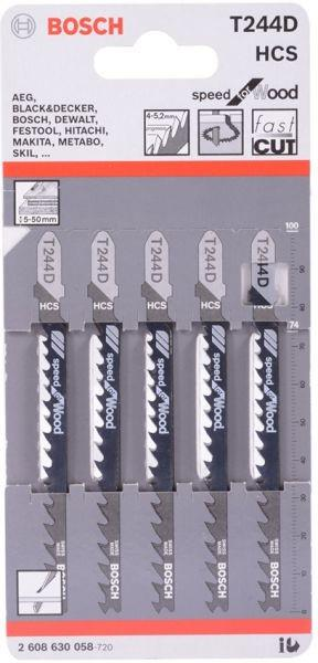 BOSCH JIGSAW BLADE T244D (WOOD) [PACK OF 5]