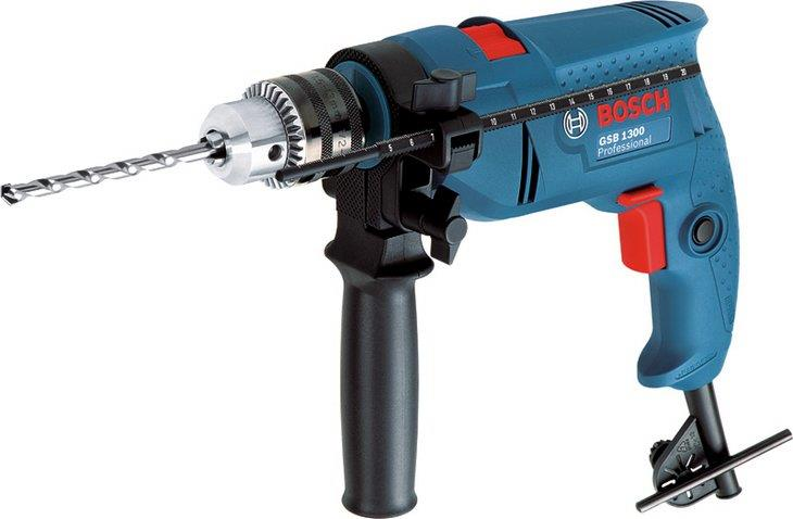 Bosch Professional Impact Drill Set c/w Accessories GSB1300 (New)