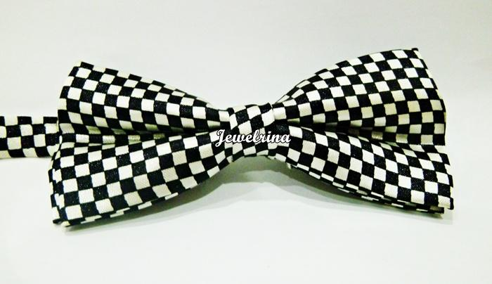 Bow Tie Checkered Black & White (Free Shipping)