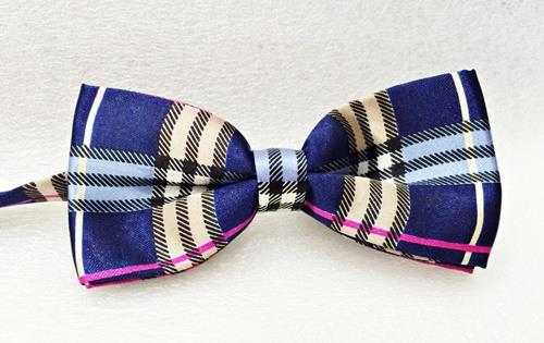 Bow Tie Checkered Blue Boxes (Free Shipping)