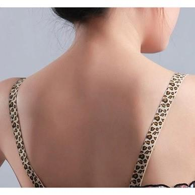 Bra Strap - Sexy Leopard Pattern with Iron Buckle