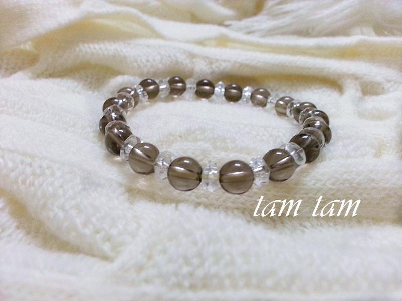 Bracelet Crystal Grey Colour 6mm 1008