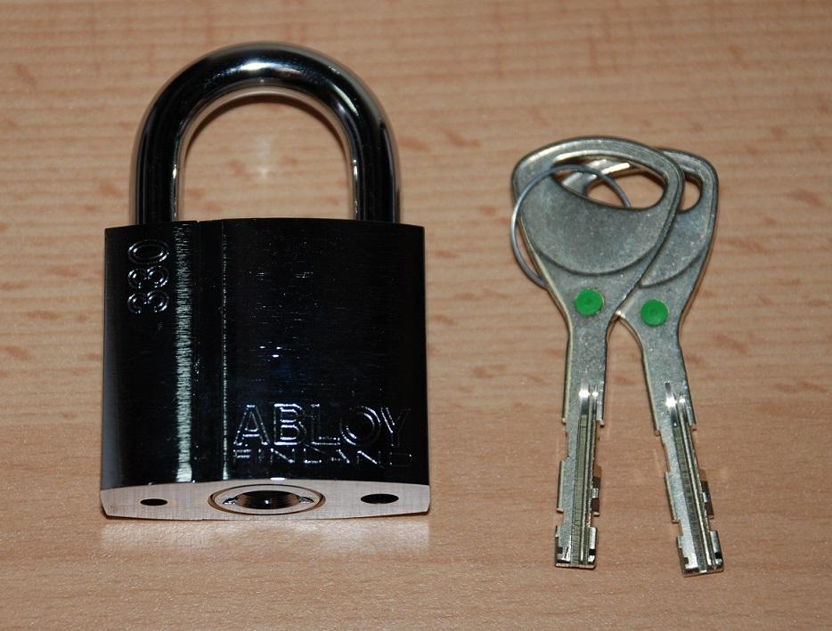 Brand New ABLOY High Security Padlock PL330B with Sentry Key