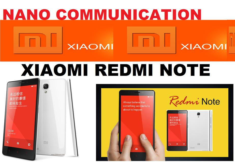 BRAND XIAOMI.NANO COMMUNICATION WARRANTY.Xiaomi Redmi Note DUAL SIM