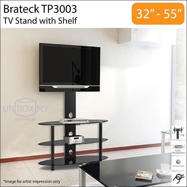 Brateck TP3003 32-55 inch Swivel TV Stand Combo