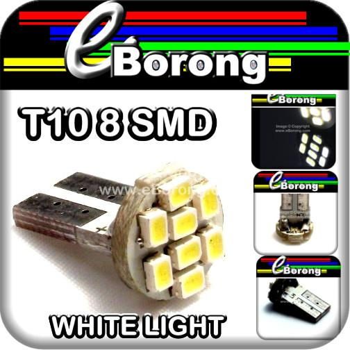 BRIGHT LIGHT T10 W5W 168 194 8 SMD LED 12V White Lamps Car Lights Bulb