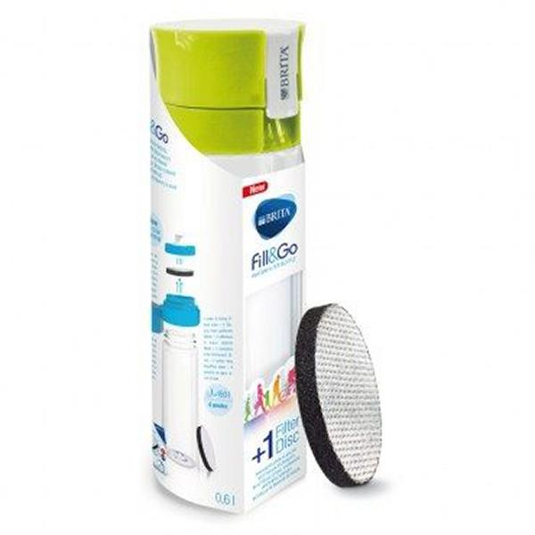 Brita Fill & Go Water Filter Bottle Outdoor, Purify Water - Green