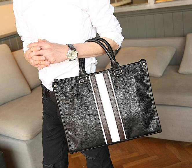 British business retro portable shoulder briefcase