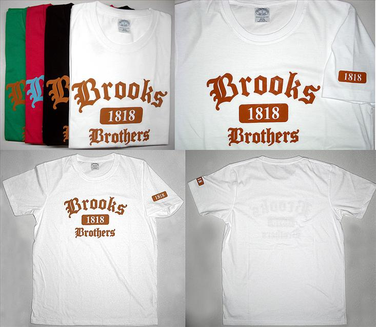 Brooks Brothers applique on front with 1818 Supima Cotton T Shirt