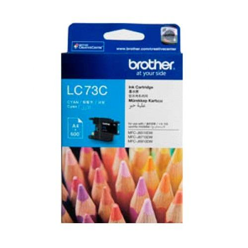 BROTHER CYAN INK CARTRIDGE, LC-73