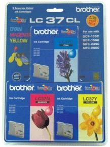 BROTHER LC-37 COLOR VALUE PACK INK CARTRIDGE