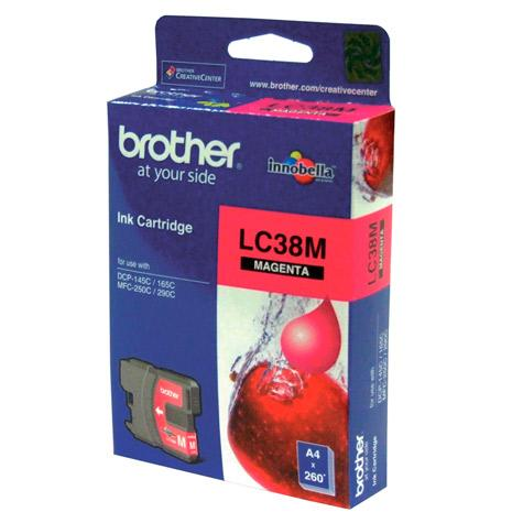 BROTHER LC-38 MAGENTA INK CARTRIDGE
