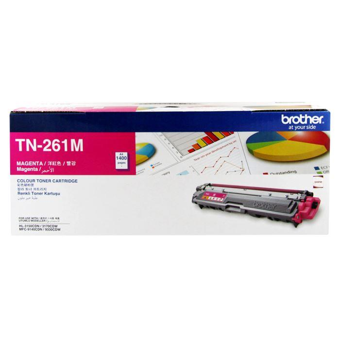 Brother TN-261M (Magenta)HL-3150CDN HL-3170CDW MFC-9140CDN MFC-9330CDW