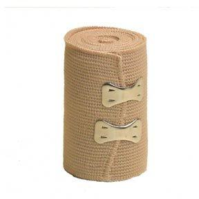 BROWN ELASTIC CREPE BANDAGE 7.5CM X 4METRE STRETCHABLE