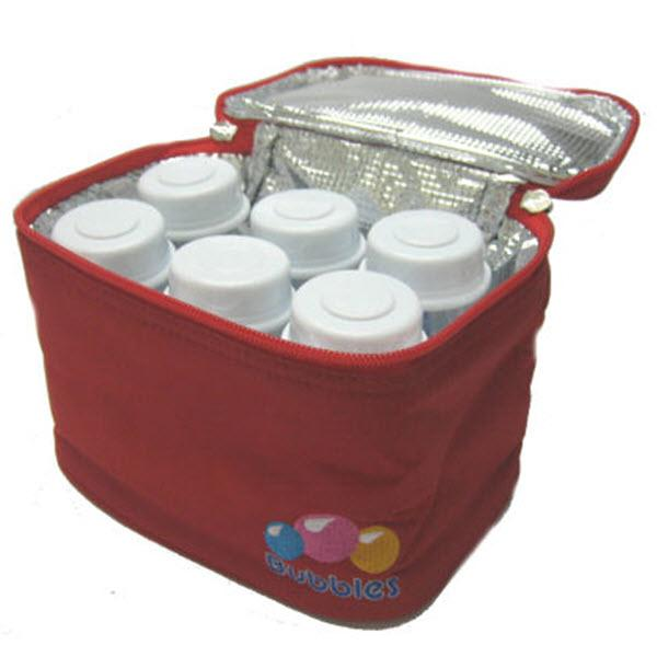 Bubbles Compact Cooler Bag With Handle (Bottles Not Included) - Red