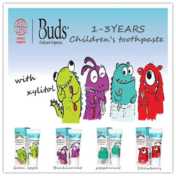 Buds Oralcare Organics-Children´s Toothpaste 1-3YEARS-50ML