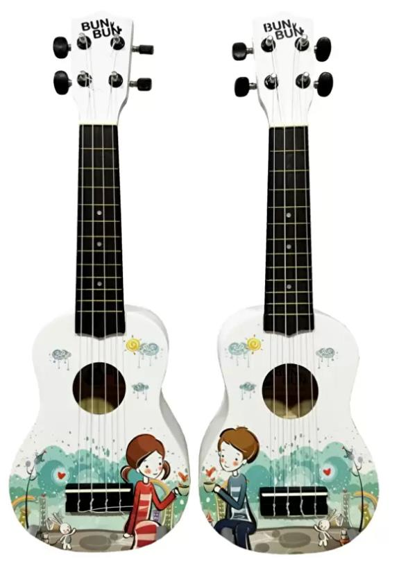Bun Bun White couple (boy) Soprano Ukulele Free Bag