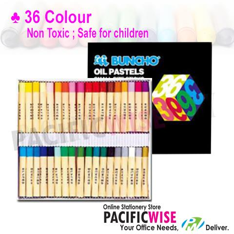 BUNCHO OIL PASTEL SMALL STICKS - 36 COLOUR