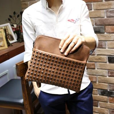 Business casual tide male rivets clutch bag