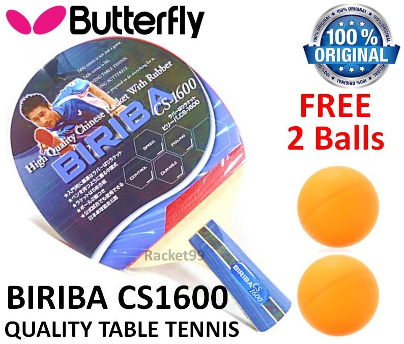 Butterfly Biriba CS-1600  FL Chinese Penhold Table Tennis FOC 2 Balls@