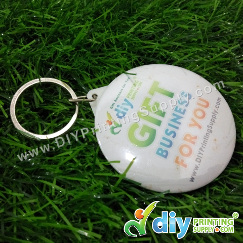 Button Badge Mirror Keychain with Mylar (44mm) (50 pcs/pkt)