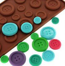 Button Silicone Chocolate Mould