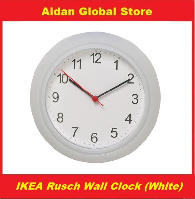 Buy 1 FREE 1 IKEA Rusch Wall Clock-White
