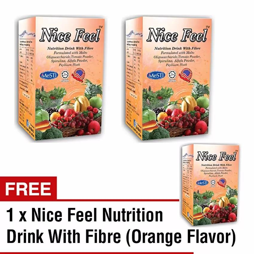 Buy 2 Free 1 Nice Feel Fiber Nutrition Drink (3 Orange Flavour)
