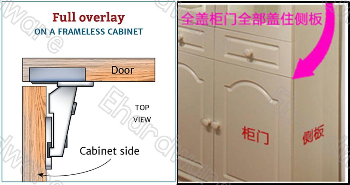 Cabinet Door Hydraulic Soft Close Full Overlay Hinge (HCH-FO)