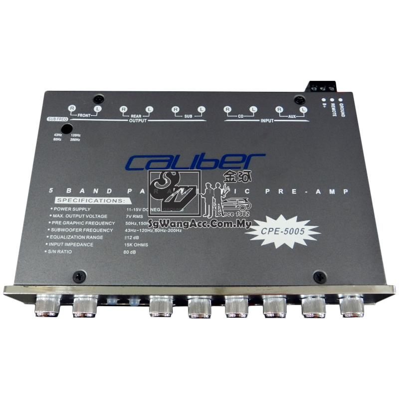 Caliber CPE-5005 - 5.1 Band Parametric Equalizer w/Subwoofer Output